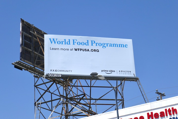 World Food FYCommunity Amazon billboard