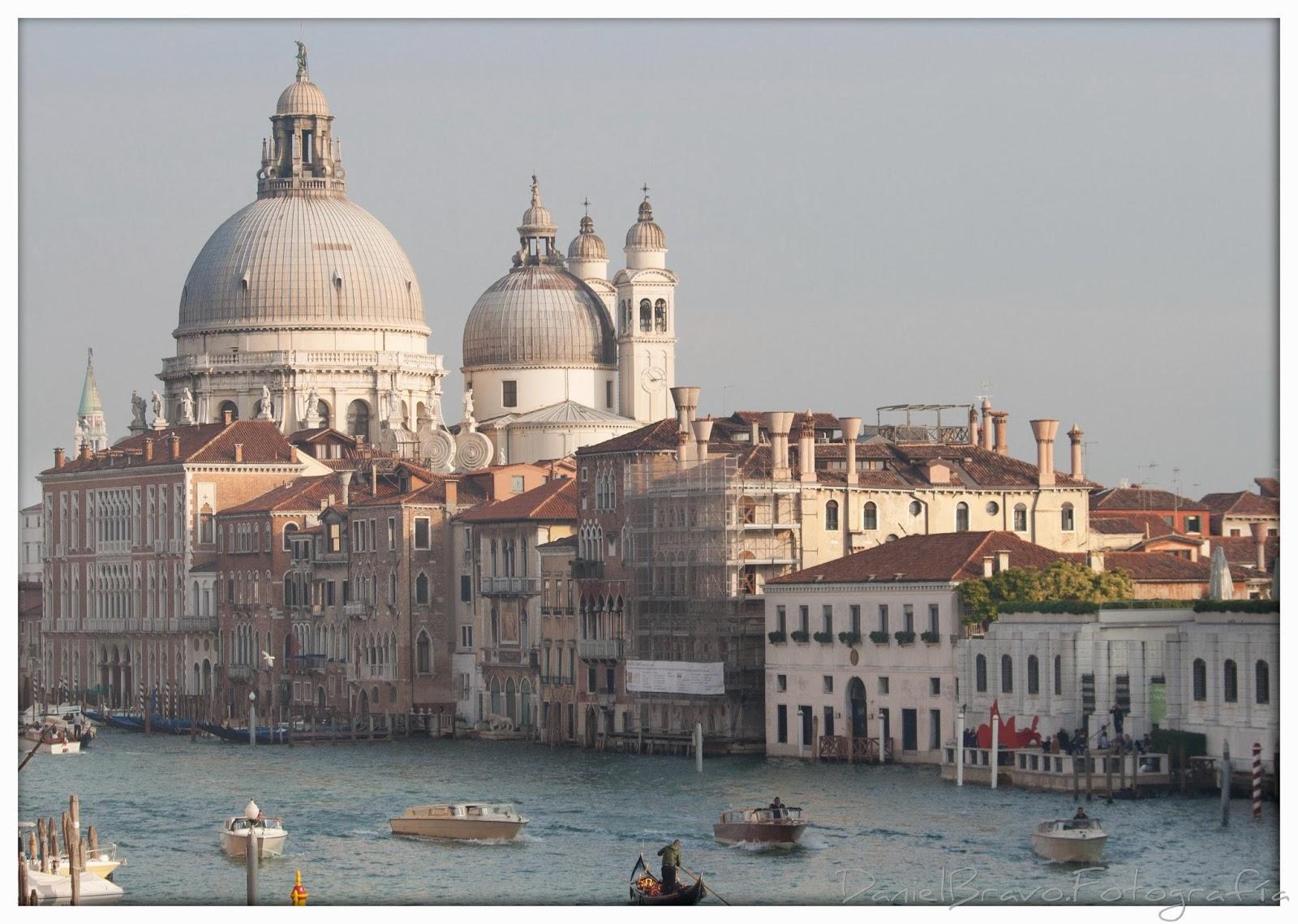 Vistas del Gran Canal y las cúpulas de la iglesia de La Salute