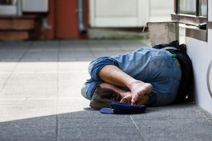 homeless, businessman