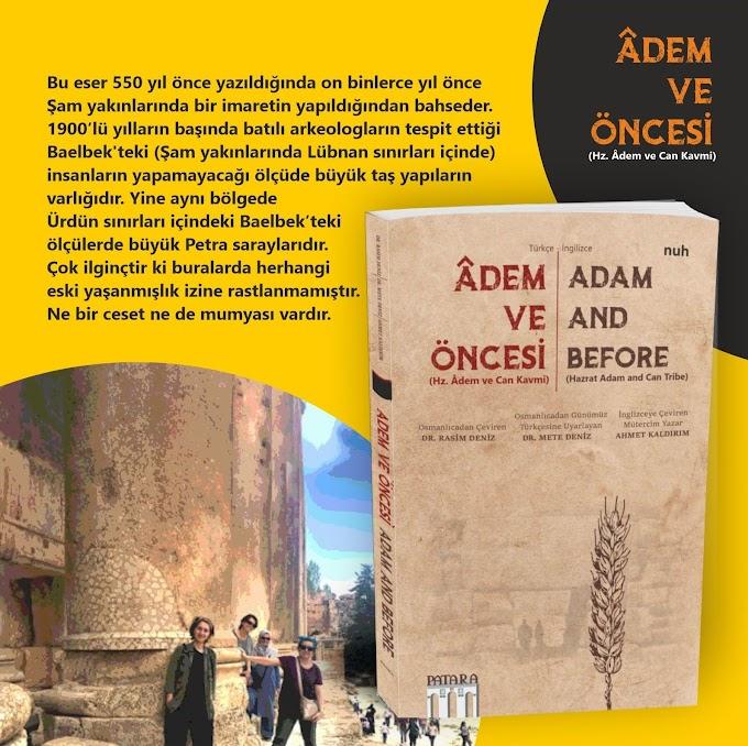 Âdem ve Öncesi Patara Kitap'tan Çıkıyor