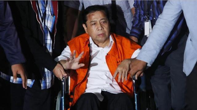 TERKUAK: Tak Ada Benjol Sebesar Bakpao di Kepala Novanto Saat Tiba di KPK