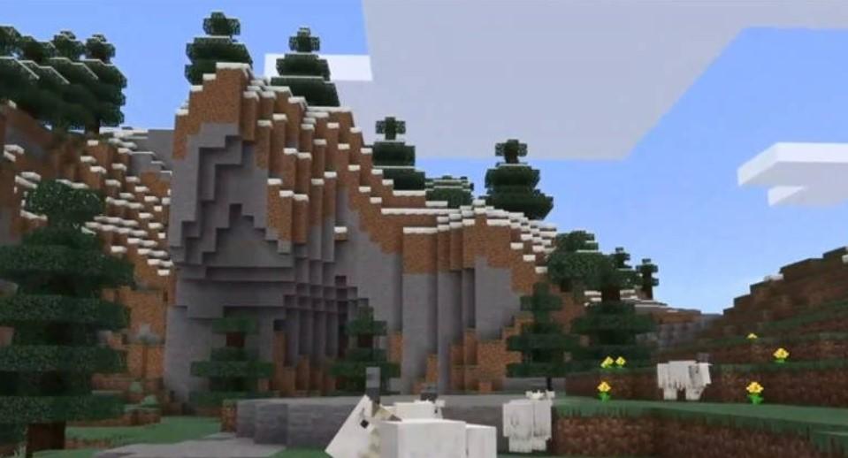 goats and snow di minecraft versi 1.16.230.56