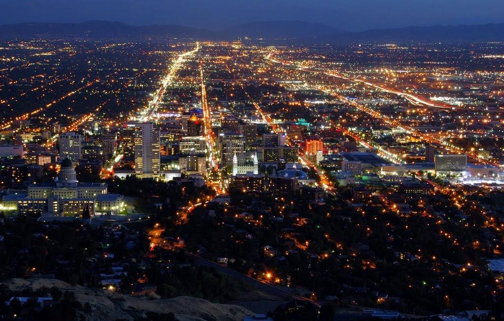 Salt Lake City tuyệt đẹp về đêm