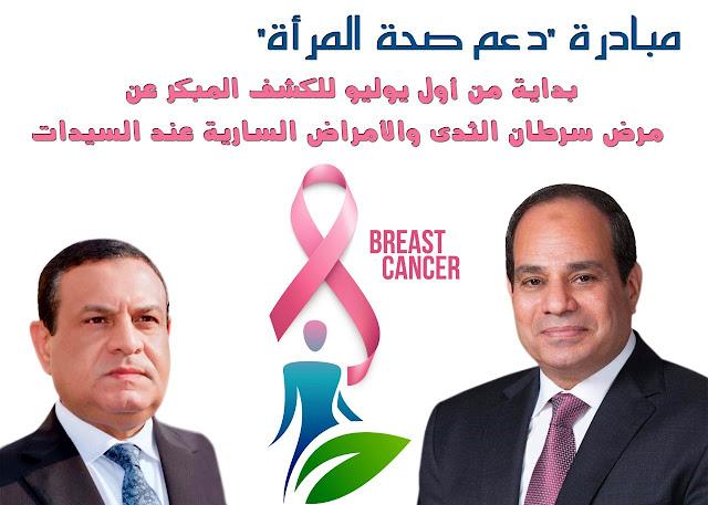 """فحص 372 ألف سيدة بمحافظة البحيرة في إطار مبادرة السيد الرئيس """" دعم صحة المرأة المصرية """" ."""