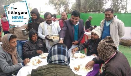 राजद के पूर्व विधायक द्वारा किया गया दही चुडा़ भोज का आयोजन