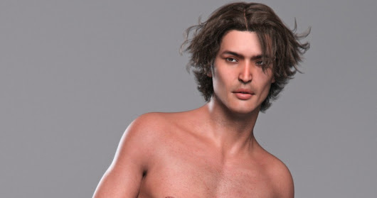 3d Models Art Zone - Isamu for Genesis 3 Male