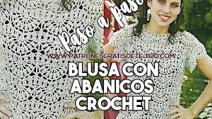 Blusa de abanicos tejida a crochet   Patrones Paso a Paso