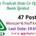 APCOB Recruitment Notification 2016- 47 Staff Assistant & Manager vacancies