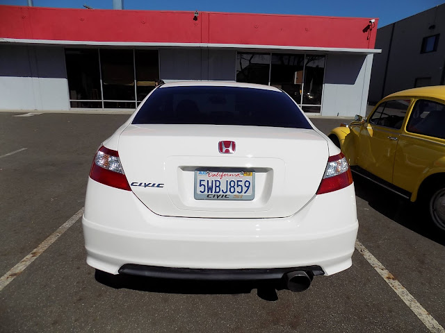 Honda Civic Si after overall paint job at Almost Everything Auto Body.