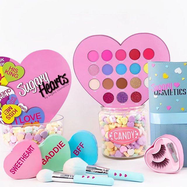 Productos de la línea de maquillaje de Sugary Cosmetics.