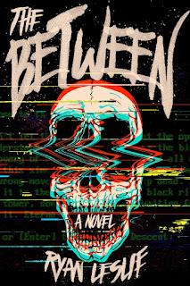 Glitched skull on black background