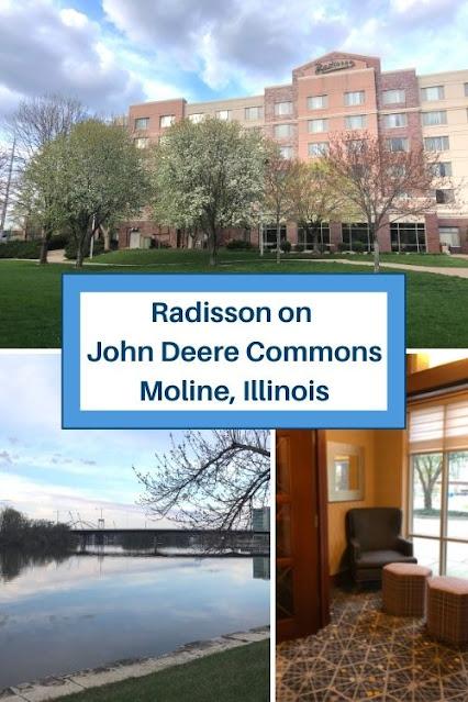 Reposing at the Radisson on John Deere Commons in Moline, Illinois
