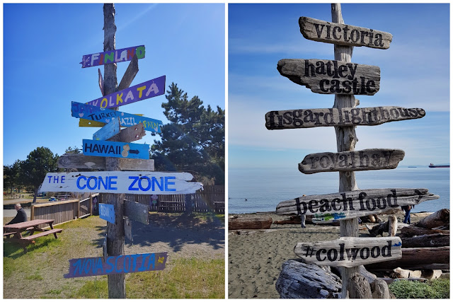 Wooden signposts point elsewhere...