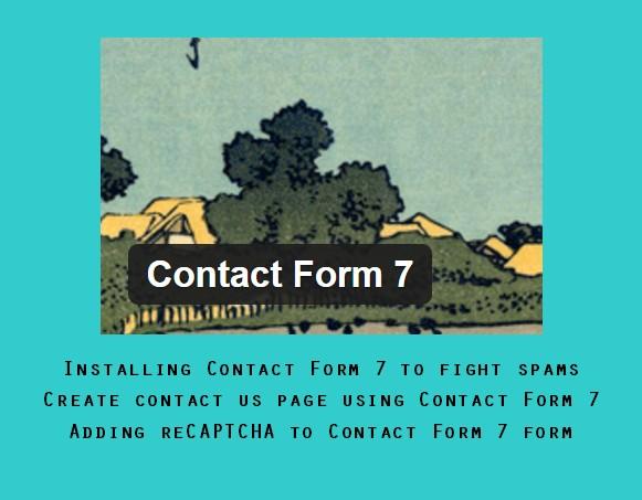 WordPress: Configure Captcha for Contact Form 7 Wordpress plugin