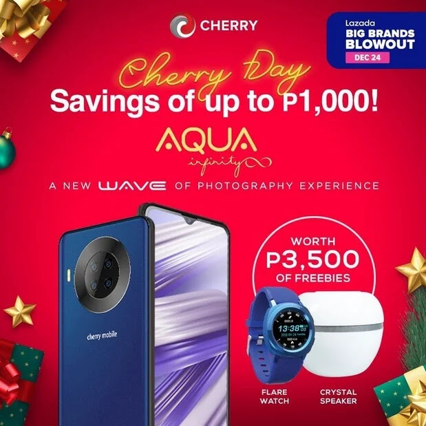 DEAL ALERT: Cherry Mobile Aqua S9 Infinity for Only Php6,999 Plus Freebies worth Php3,500 this December 24