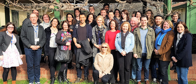 A photograph of the 2016 Hardcopy group and ACT Writers Centre staff.