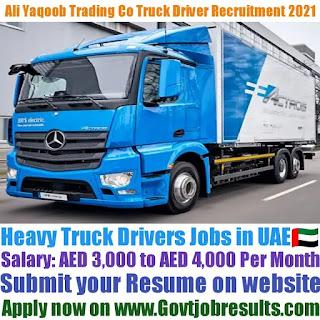 Ali Yaqoob Trading Co LLC Heavy Truck Driver Recruitment 2021-22