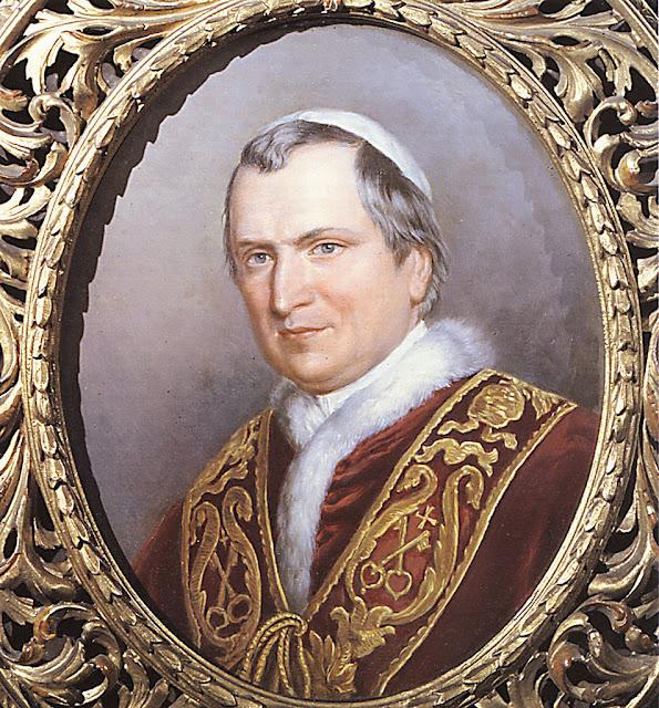 Beato Pio IX, Papa da época da aparição