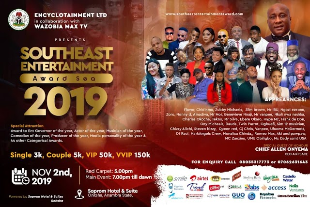 Dignitaries Set to receive Southeast Entertainment Awards 2019