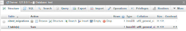 Create Database Migration in Codeigniter