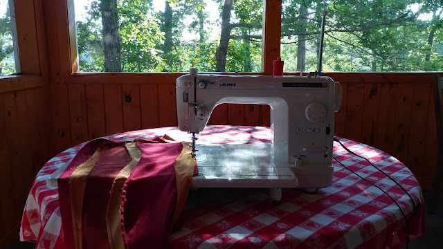 Home away from home - sewing on vacation