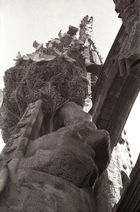 Barcelone, Sagrada Familia, Gaudi, © L. Gigout, 1991