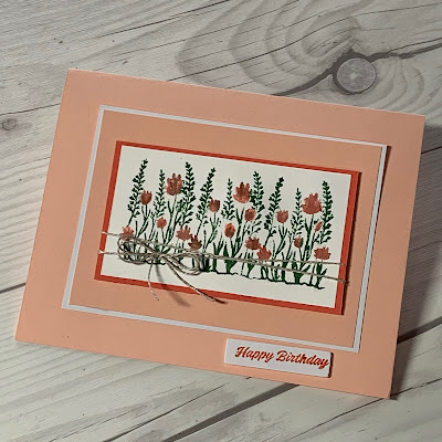 Floral Birthday Card using Here's To You March 2021 Papr Pumpkin Kit