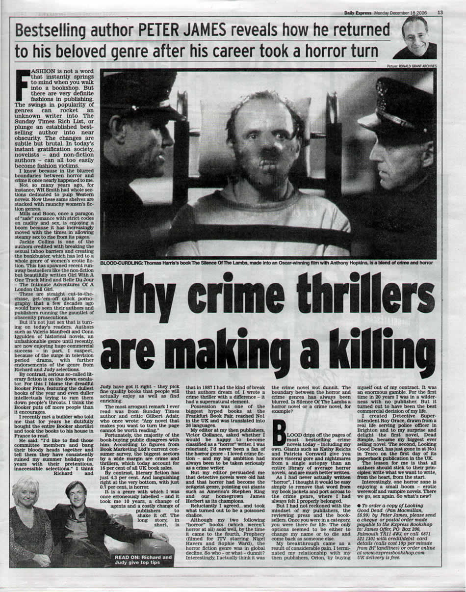 Why crime thrillers are making a killing (Daily Express