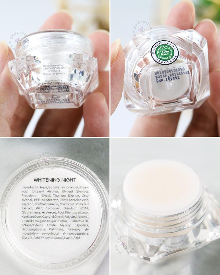 Review eBright Skin Whitening Night Cream