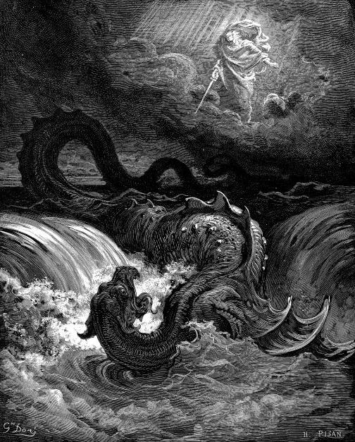 Dios derrotando al leviatán
