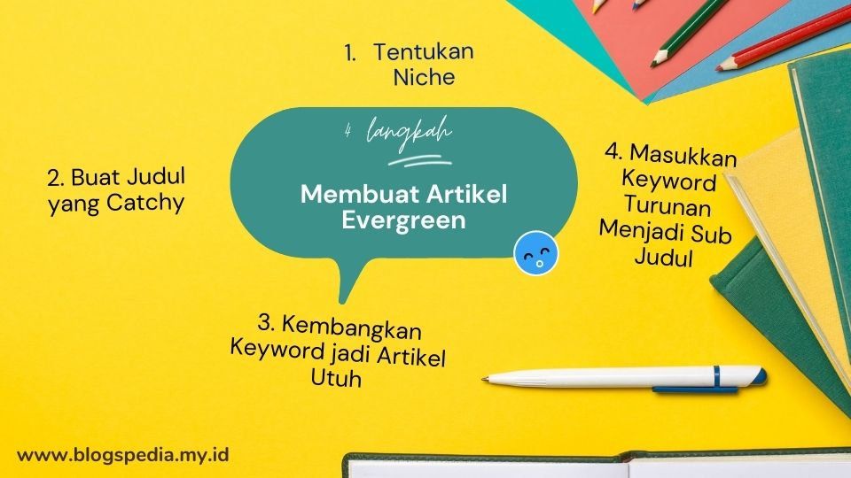 cara membuat artikel evergreen