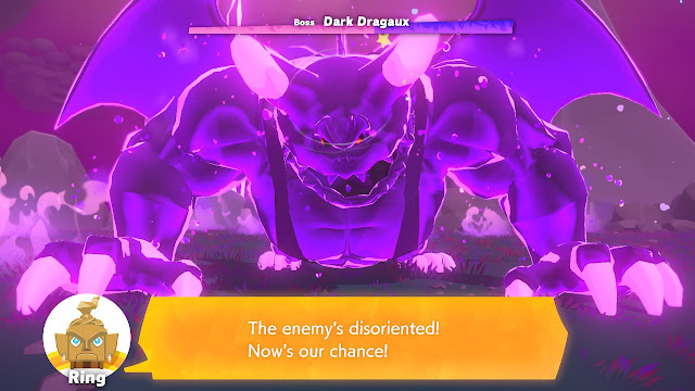 Ring Fit Adventure Dark Dragaux Final Boss disoriented stunned rush attack