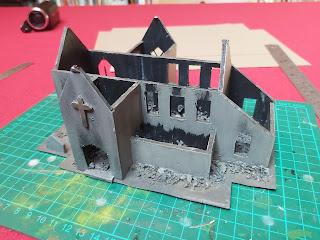 Ruined church model in it's original form