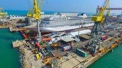 Nave in costruzione per Viking Ocean Cruises, presso Fincantieri di Ancona