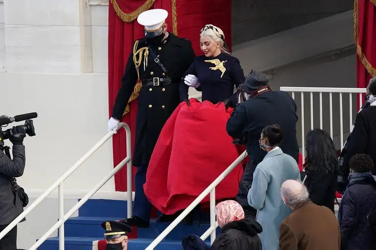Lady Gaga dress steals the show at Biden's inauguration