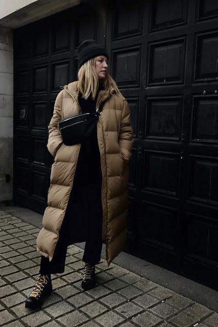 damski pikowany płaszcz