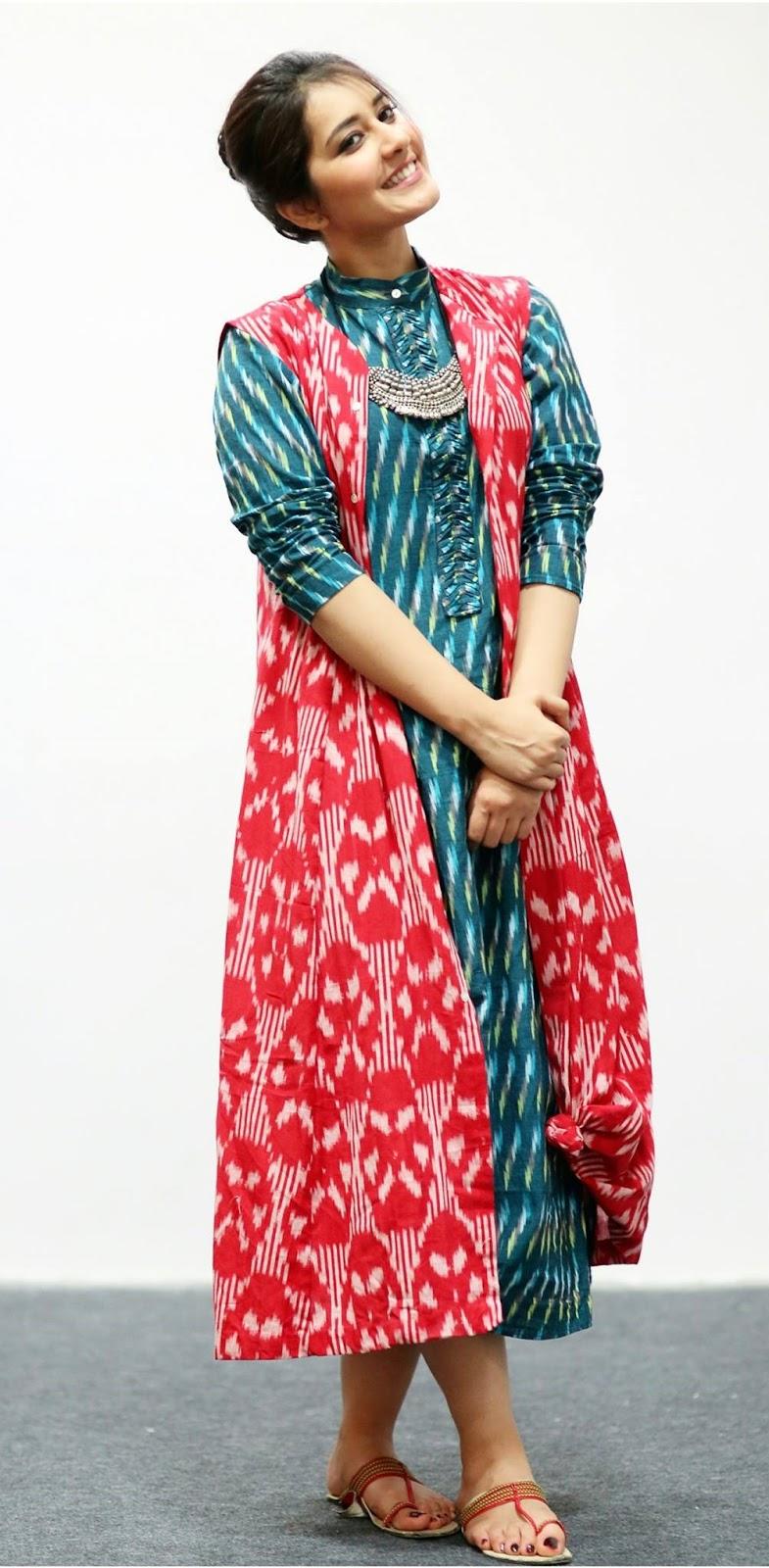 Hot Photoshoot Of Rashi Khanna In Red Dress