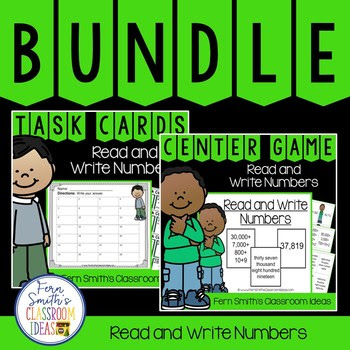 Fourth Grade Go Math 1.2 Read and Write Numbers Bundle #FernSmithsClassroomIdeas