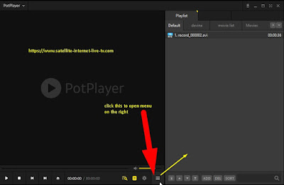 Pot player how open playlist menu