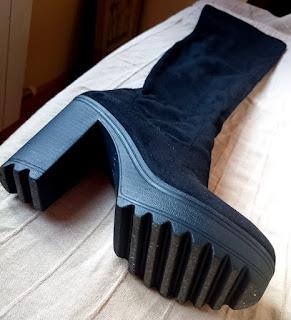 Haul Marypaz Black Friday botas altas mosqueteras elasticas negras tacon alto