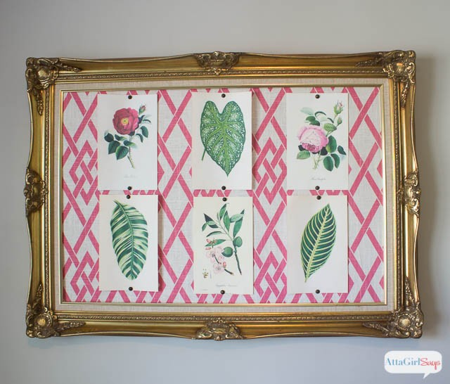 Atta Girl Says gold Frame with Fabric- How I Found My Style Sundays- From My Front Porch To Yours