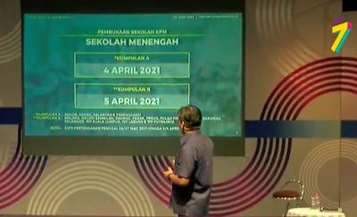 Pengumuman Pembukaan Sekolah Tahun 2021 Oleh Kementerian Pendidikan Malaysia