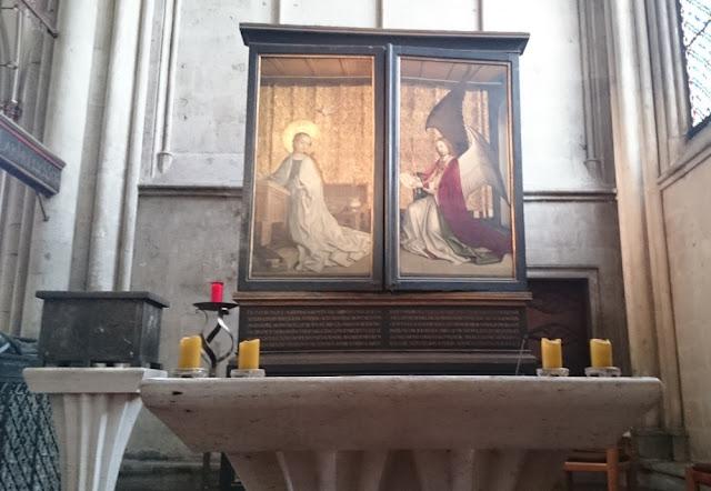 Kölner Dom - Altar der Kölner Stadtpatrone von Stephan Lochner, zugeklappt