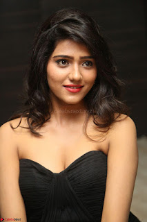 Shalu Chourasiya in spicy Sleeveless Strapless Black Top at O Pilla Nee Valla Movie Audio Launch Feb 2017 015.JPG