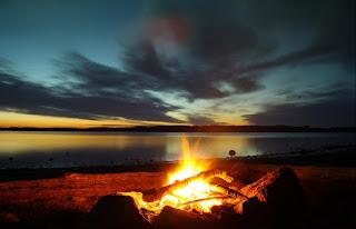 Bonfire on the Shore