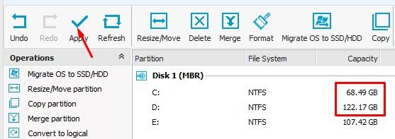 Cara Menambah Local Disk D dari C