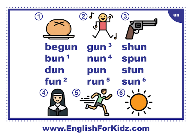 un family words - printable flashcard with pictures