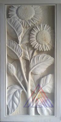 Relief bunga matahari