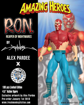 Amazing Heroes Alex Pardee's R.O.N. (Reaper of Nightmares) Limited Edition Action Figure by Fresh Monkey Fiction