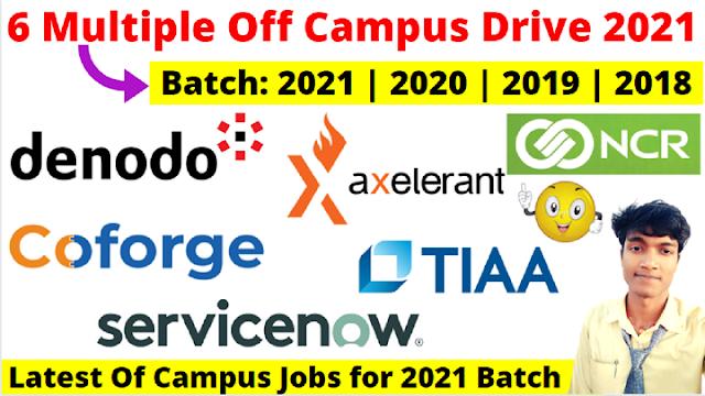 ServiceNow, Coforge & NCR Mega Campus Drive 2021 2020 2019 Batch